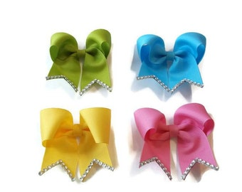 Mini Cheer Bows, Cheer Bows, Small Bows, Girls Hair Accessories, Tiny Bows, Baby Bows, Sparkle Bows, You Pick the Colors
