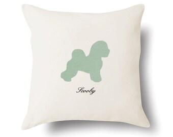Bichon Frisé Pillow - Bichon Frisé Gift - Pet Portrait Present - 4 Color Choices