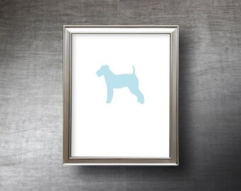 Welsh Terrier Art 8x10 - UNFRAMED Hand Cut Welsh Terrier Silhouette Print - 4 Color Choices - Personalized Name or Text Optional