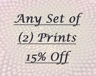 Save 15% on Any Set of (2) Prints
