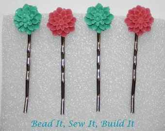 Resin flower bobby pin - hair pin