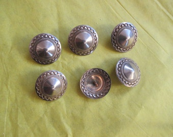 BUTTONS Navajo Made Nickel Silver Vintage Unworn