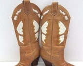 S A L E  Love is Like a Butterfly Vintage 1970s Boots