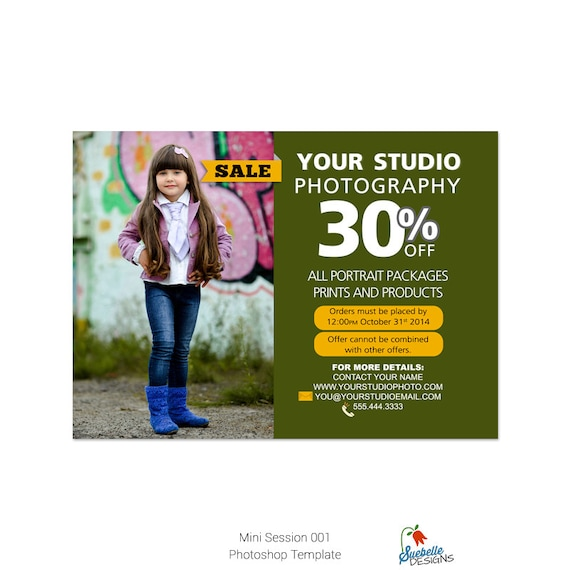 Photography Mini Session Photoshop Template 002