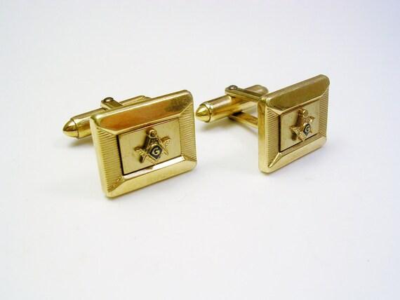 Freemason Cufflinks gold filled KREISLER QUALITY Masonic