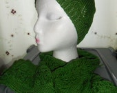 Handmade, knitted, Matching Hat & Scarf Sets in various colours and designs.