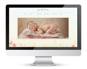 HALF PRICE SALE * Showit Style Group - Showit Website Template - Instant Download - Floral Showit Style Group