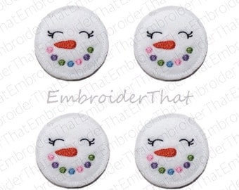 UNCUT  Snowman Face felt applique embellishment hair bow centers felties(4)