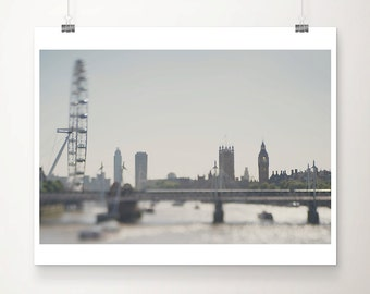 london photograph london print london decor river thames photograph london eye photograph westminster photograph big ben photograph