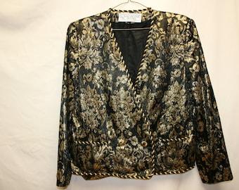 Vintage Evan Picone metallic brocade jacket