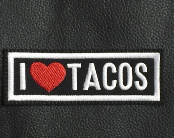 I Love Tacos Sew On Patch