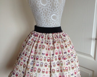 Ladies or girls Fancy Dress Russian Dolls full skater style skirt