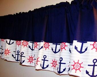 Nautical valance | Etsy