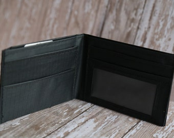 Mens Bifold Envelope System Wallet for Dave Ramsey Cash Budgeting - Black