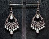Pearl Chandelier Earrings White