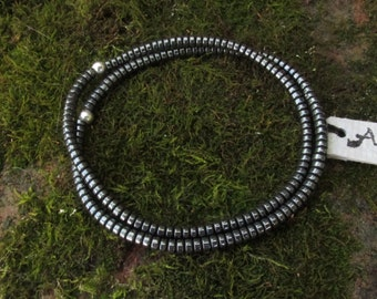 Hematite Non Magnetic ~ Therapeutic Quality Minimalist Stretch Bracelet 3mm