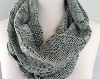 Handwoven Chenille Infinity Scarf- Dusty Blue