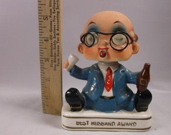1960's Vintage Capri Creations BEST HUSBAND AWARD Blinking Eye Bobblehead Nodder.epsteam