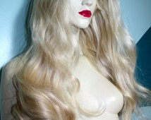 Remi Remy Full Lace Wig Wigs Indian Human Hair Ligth Blonde Color 60 Choose Length and Texture