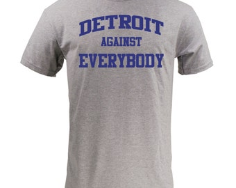 Detroit Against Everybody - Blue on Sport Grey