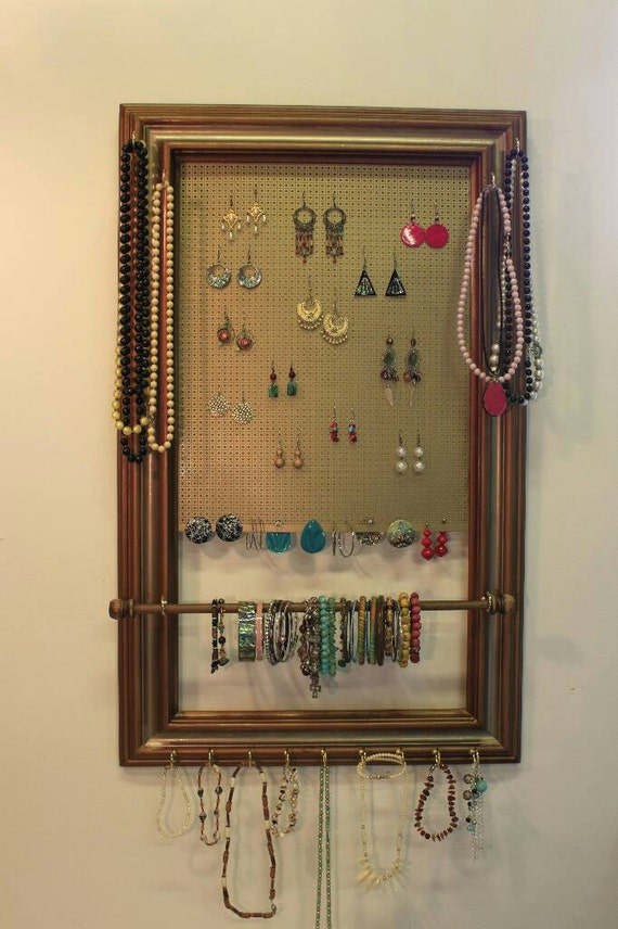 Jewelry Organizer X Lg Hang On Closet Door Holds By
