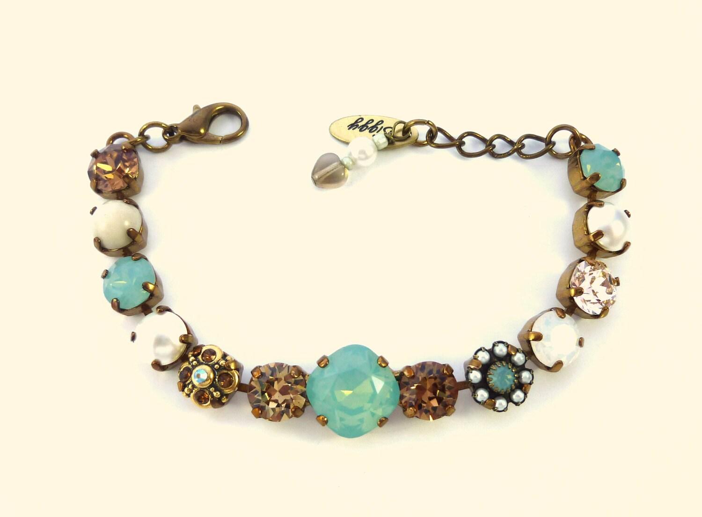 swarovski crystal tennis bracelet 8mm with 12mm by. Black Bedroom Furniture Sets. Home Design Ideas