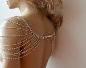 Wedding Rhinestone Jewelry, Wedding Dress Shoulder, Wedding Dress Accessory, Bridal Epaulettes, Wedding  Accessory, Bridal Accessory