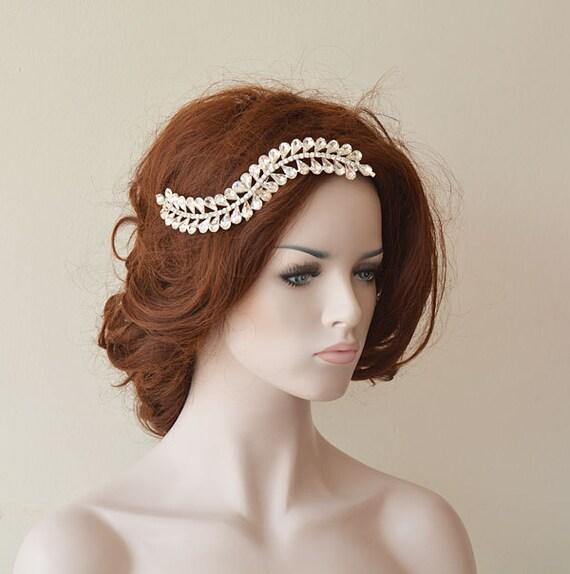 Wedding Hair With Rhinestone Headband : Bridal rhinestone headband wedding hair by adbrdal