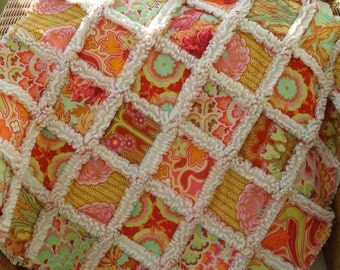 handmade patchwork cot quilt, rag quilt, baby blanket, lap quilt, ready to post,