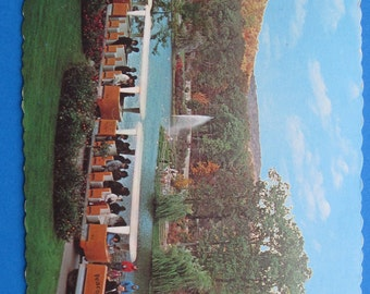 Vintage 1960s Sterling Forest Gardens, Tuxedo NY, Postcard Souvenir