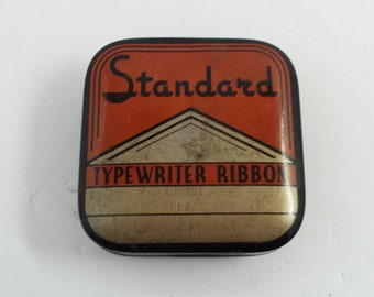 Vintage Tin Typewritter Ribbon Box