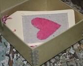 Handmade Gift Tags - 5 - Handsewn Wool Felt Linen, Sewn Gift Tags, Teacher Gift, Gift Under 5, Gift Under 10, Thank You Gift, Hostess Gift