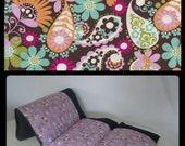 Brown Paisley & Floral Pillow Bed, Nap Mat, Girl Pillow Bed, Children's Pillow Bed, Pillow Mattress, Sleepover Bed