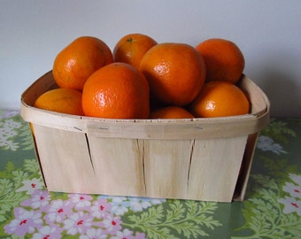 6 New Berry Baskets, Wood Four Quart, Country Decor, Farm Decor, Farmhouse Decor