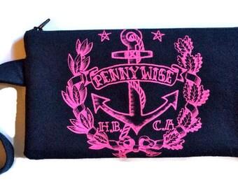 Pennywise Bag • Upcycled T-shirt Bag • Clutch • Pennywise Tshirt Bag • Wristlet • Band Tee Bag