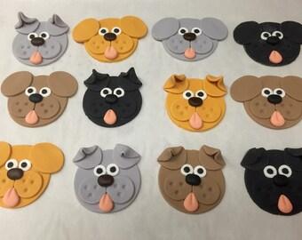 Fondant Dog Animal Cupcake Cookie Toppers