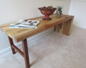 Reclaimed Wood Bench or Narrow Coffee Table