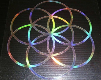 Seed of Life Vinyl holographic FX Decal