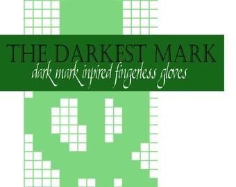 PATTERN: The Darkest of Marks Fingerless Gloves