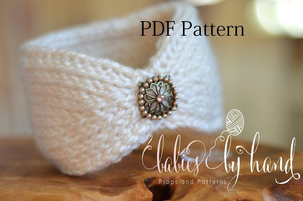 Tunisian Knit Stitch Headband Pattern : Tunisian Crochet Headband Pattern Baby Crochet Headband