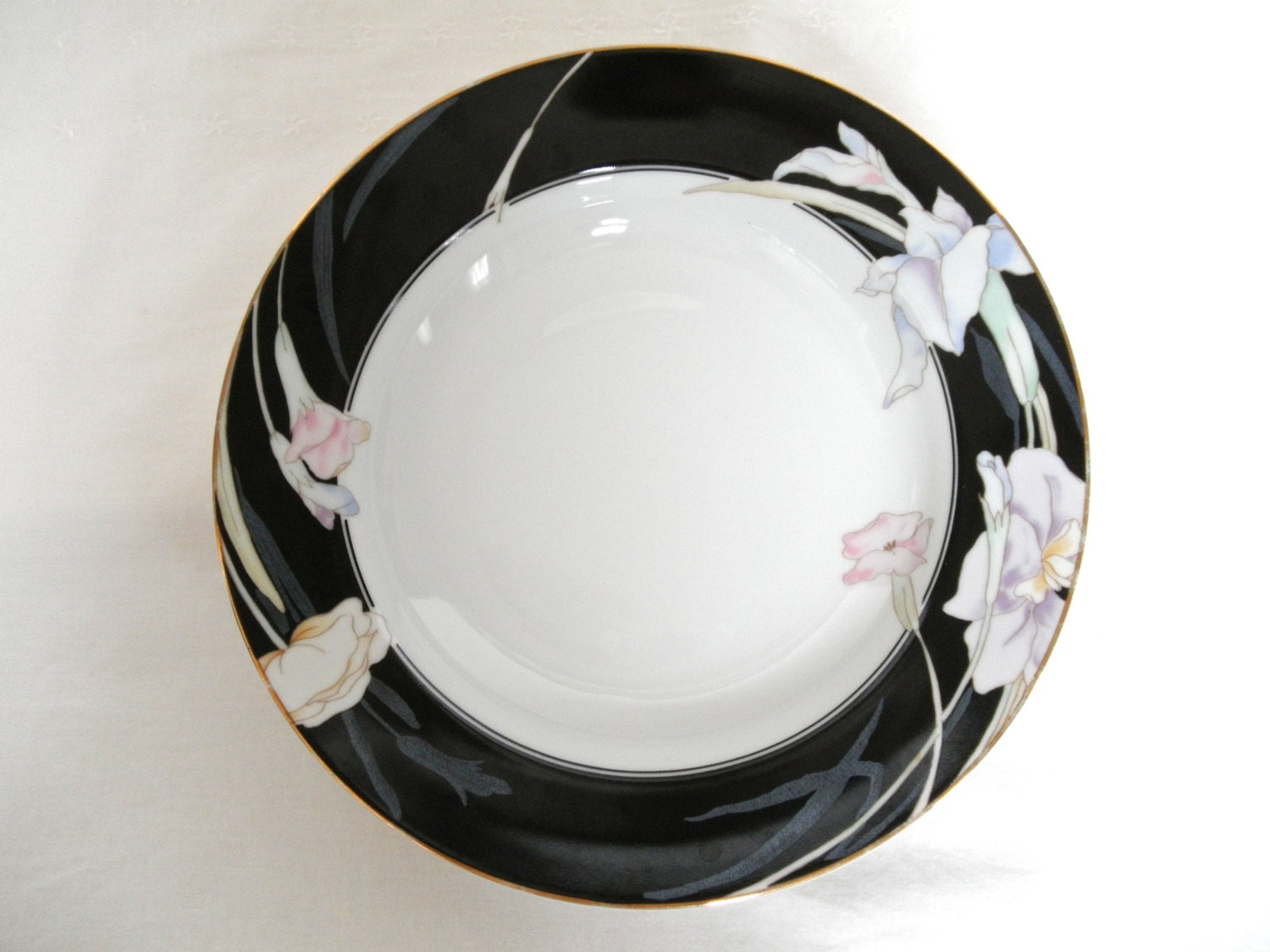 Mikasa Bowl Charisma Black China L9050 Dinnerware