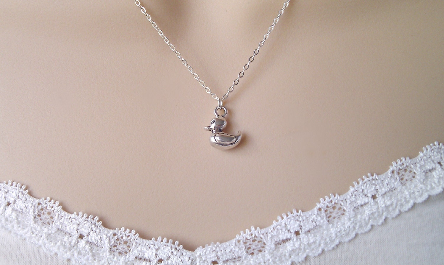 duck necklace silver duck necklace silver necklace