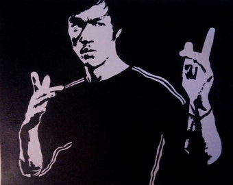 Bruce Lee hand painted acrylic on canvas