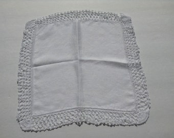 Vintage Crocheted Lace Edged Hanky