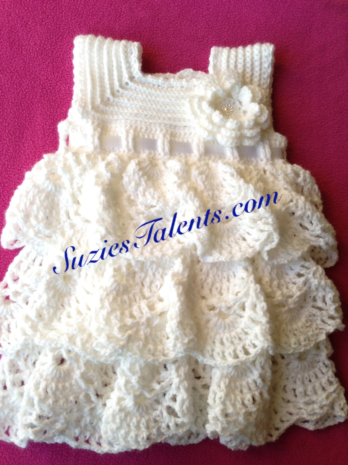 PATTERN PT089B 2T-3T Alma Layers Dress Crochet Toddlers