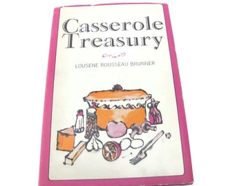 Vintage Cookbook, 1960's Casserole Treasury Cookbook, Vintage Recipes, Casserole Recipes, Mid Century Kitchen