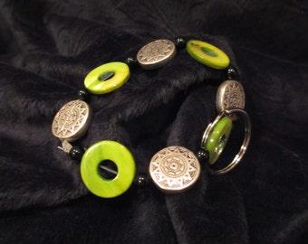 Green Spring Keychain Bracelet