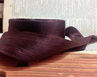 chocolate mocha brown silk ribbon