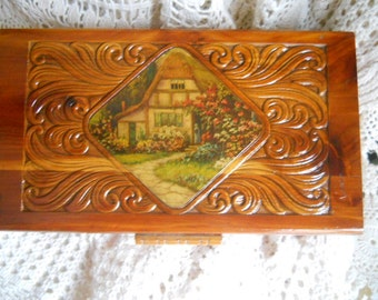 vintage collectors wooden box 11 x 6