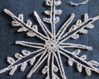 Snowflake Ornaments, Set of 3, crochet snowflake, Christmas Ornaments, Winter Decor, Window Decoration,  Holiday Decor, Gift Embellishment